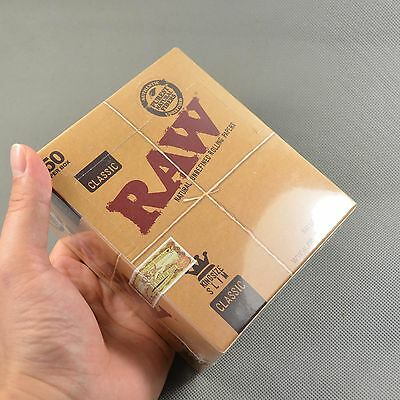NEW Classic RAW 50 booklets 110mm Natural Unrefined Fine Quality Rolling Paper