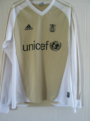 Brondby Limited Edition Gold LS Football Shirt Size Adult Small /39242