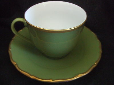 "(4) Anna Weatherley Colours-Sage Cups & Saucers Nwot ""rare"""