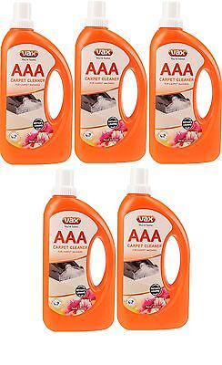 5x Vax AAA Improved Carpet Cleaner Washer Machine Shampoo Formula Solution 750ml