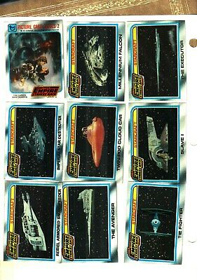 1980 Topps Empire Strikes Back Star Wars cards series 2 EX+++ TO  NM  CONDITION