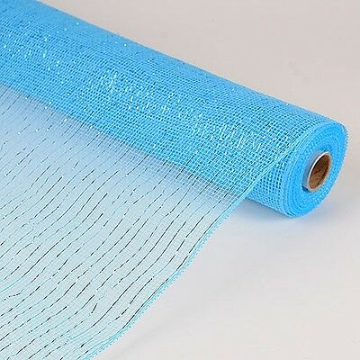 Light Blue Deco Mesh 21 inches by 10 yards