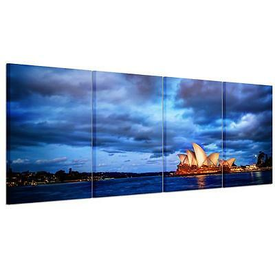 Large Sydney Opera House Unframed HD Canvas Print Wall Art Picture Split Poster