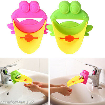 Bathroom Sink Faucet Extender Cute Crab Shape For Children Kid Washing Hands NEW