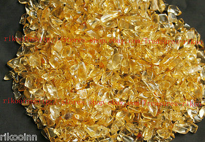 6000+Pcs Lot of Small to Tiny Super Clear Citrine Quartz Crystal Rock Chips 1Kg