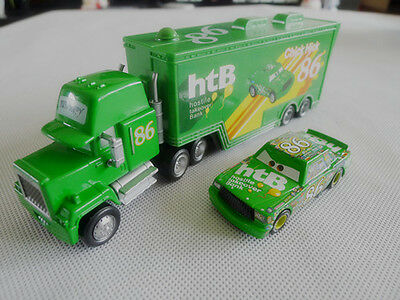 Disney Pixar Cars Chick Hicks Hauler Truck & NO.86 Metal Car New Loose