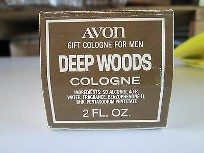 VINTAGE AVON LOG DEEP WOODS COLOGNE WITH BOX NIB 2 ounce SIZE