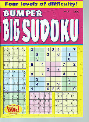 Sudoku Bumper Book Big Print Puzzles In With 4 Levels Of Difficulty Free P/p