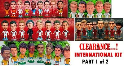 Various Soccer National Figure Doll Euro World Cup - Clearance1 Price w FREE P&P