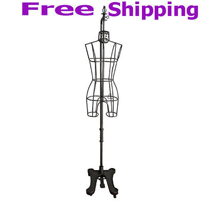 Wrought Iron Hanging Metal Form Mannequin Size 8