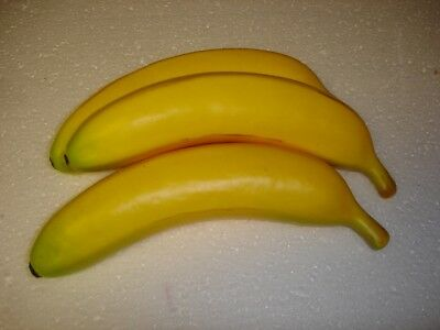 New Pack X3 Artificial Fruit Banana(s) 100mm Home Decoration