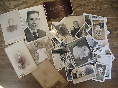 100 vintage photographs, old antique photos c. 1900's-1960's