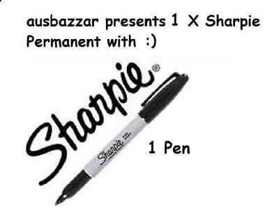 1 x SHARPIE Black Fine  Point Permanent Marker Pen NEW