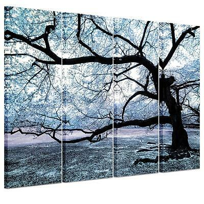Large Gray Big Tree Unframed HD Canvas Print Wall Art Picture Split Poster