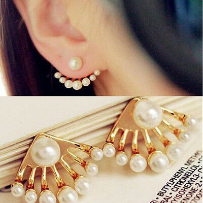 Fashion Jewellery Earrings Ladies Girls Cute Pearl Dangle Earrings Exquisite