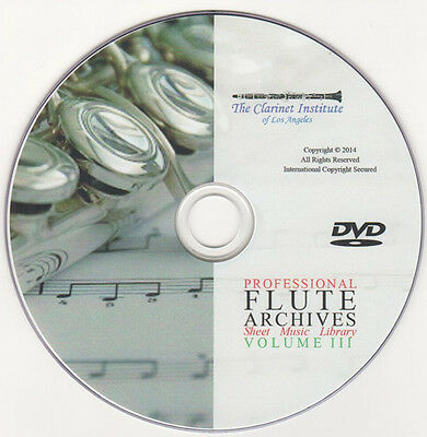 Professional FLUTE SHEET MUSIC Archive - Volume 3 - DVD PDF