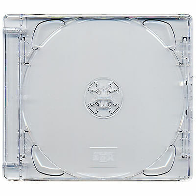 1 X Four Square Brand New CD Super Jewel Box 10.4mm Case for 2 Discs Clear Tray