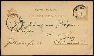 Hungary 1882 Stationery  Card #C27106