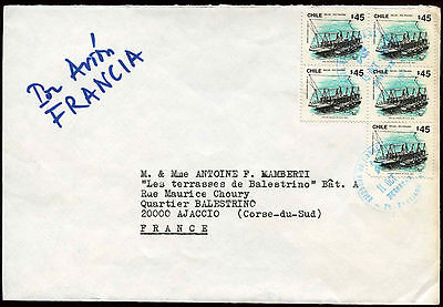 Chile 1980's Cover To France #C26779
