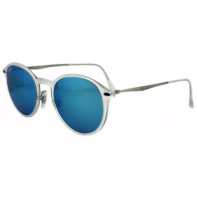 Ray-Ban Sunglasses 4224 646/55 Transparent & Silver Blue Mirror