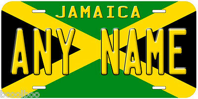 Jamaica Flag Any Name Novelty Car License Plate