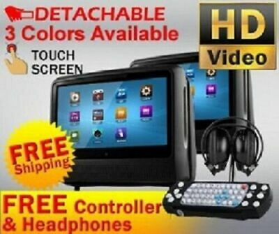 "2017 Center Console 8.5"" Armrest Dvd Player Monitor Rotating Screen Headphones"