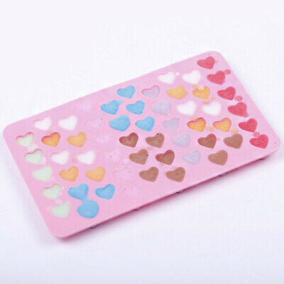 Mini 55hole Heart Shape Silicone Mold For Candy Chocolate Cake Mould Baking DIY