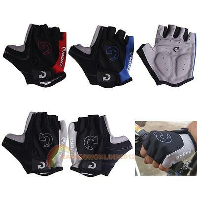 Bike Bicycle Cycling Motorcycle Outdoor Sport Gel Half Finger Gloves 3 Colors