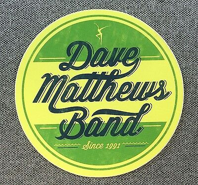 Dave Matthews Band Circle Sticker 3.5in Authentic DMB merchandise si