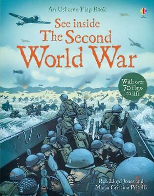 See Inside the Second World War by Rob Lloyd Jones (English) Hardcover Book Free