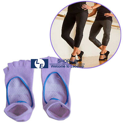 New 1 Pair Women Pilates Yoga Fitness Non-slip Massage Sports Toe Socks