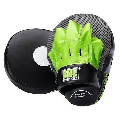 BBE 10oz Curved Hook and Jab Pads Focus Mitts Kick Boxing MMA Training