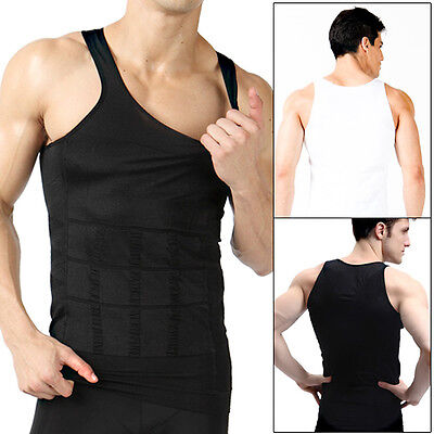 Hot Men Body Shaper Gym Vest Slimming Chest Belly Waist Tummy Boobs Compression