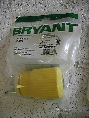 Bryant 70520NPCR Locking Plug, Nylon, 2P 3W Grounding Nema L5-20 20A 125V - NEW