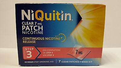 Niquitin Clear 7Mg Patch Nicotine Step 3 - 7 Patches