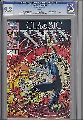 Classic X-Men #5 CGC 9.8 1987 Marvel Comic back cover by John Bolton