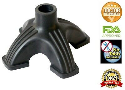 """Self Standing Rubber Quad Cane Tip For Stability And Balance 3/4"""""""