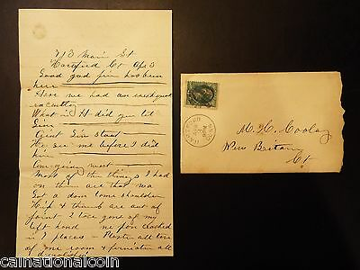 Antique hand written letter with envelope