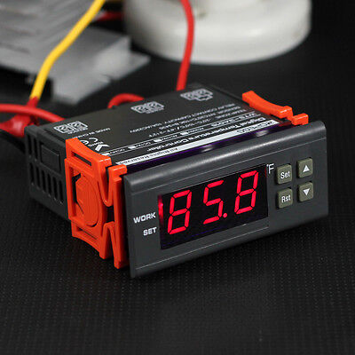 10A 110V Digital Temperature Controller Temp Sensor Thermostat Control Relay US