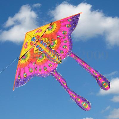 1.3M Colorful Long Tail Printed Butterfly Kite Childrens Toy Outdoor Sports Gift