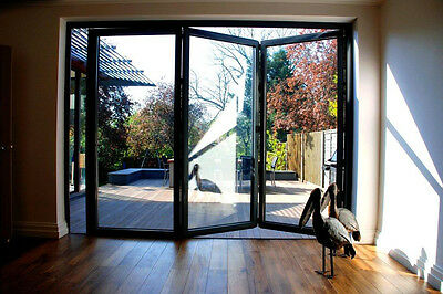 New, Quality Aluminuim Bi fold Doors inc Glass 3 panels. Look At Feedback