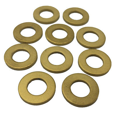 10 Pieces M8 Gold Titanium M8 Bicycle Cycling Bike Flat Bolt Washer