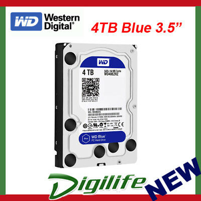 "WD WD40EZRZ 4TB Blue 3.5"" 5400RPM SATA3 Internal Hard Drive"