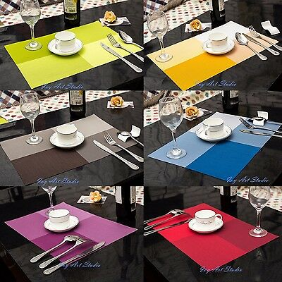 4 PCS/Set 30*45cm Square Placemat Dining Table PVC Mats Pad Tableware Utensil