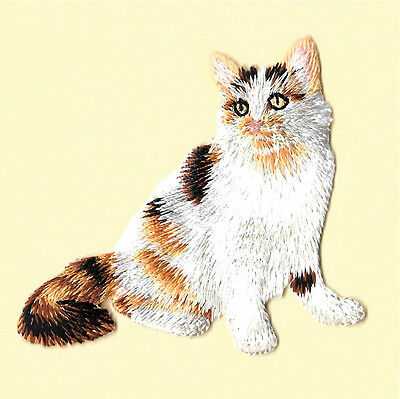 Cat Lovers Magnet - Calico Cat - Kitten - Embroidered Magnet