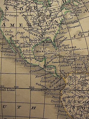 1813 Dated Antique Map ~ Western Hemisphere ~ North & South America Mexico