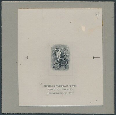 Liberia #288E Vignette Die Essay On India On Card W/ Control # Bs3484