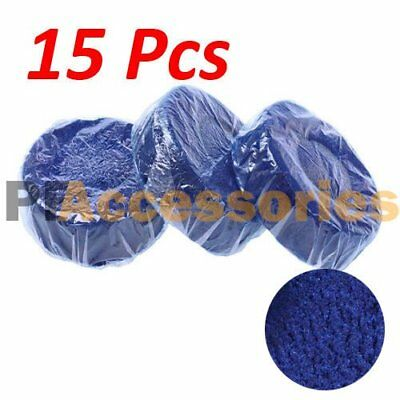 15 Pcs Automatic Bleach Toilet Bowl Tank Cleaner Blue Tablets Flush Cleaner