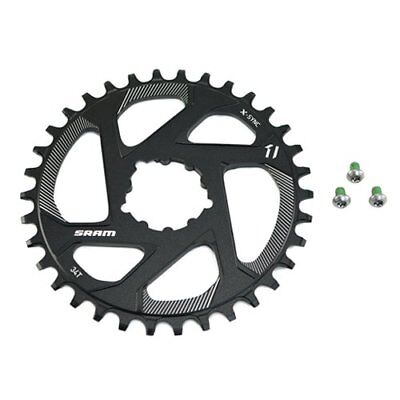 SRAM X-Sync Direct Mount 34T Chainring Zero 0mm Offset For BB30/PF30