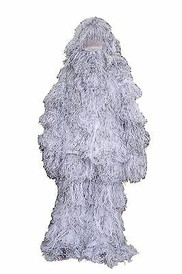 3D Premium Ghillie Suit White Camouflage Outdoor Winter Snow Traning hunting5Pcs